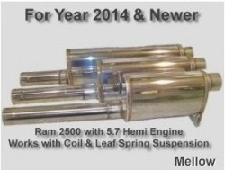 2014 & Up Ram 2500 5.7 Hemi Coil & Leaf Springs (Mellow)