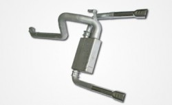 "82-92 Single Cat 4.0"" Spintech Dual Tailpipe"